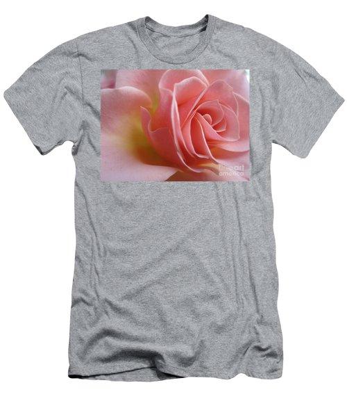 Gentle Pink Rose Men's T-Shirt (Athletic Fit)