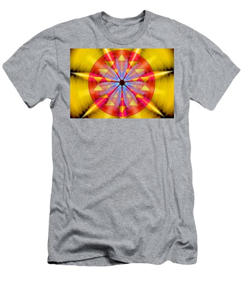 Geo-cosmic Sri Yantra Men's T-Shirt (Athletic Fit)