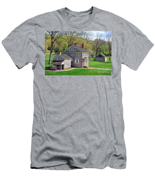 George Washington Headquarters At Valley Forge Men's T-Shirt (Athletic Fit)