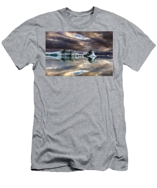 Glacier In Water Men's T-Shirt (Athletic Fit)