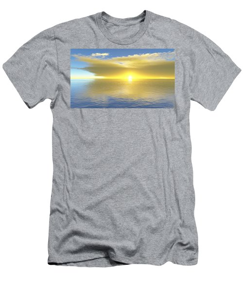 Men's T-Shirt (Slim Fit) featuring the digital art Gold Coast by Mark Greenberg