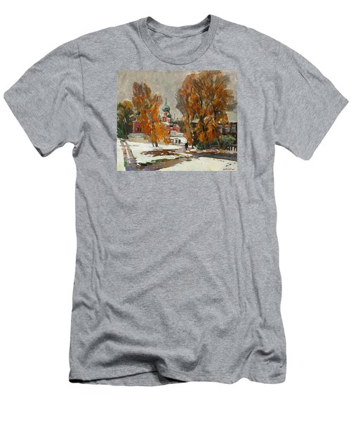Golden Autumn Under Snow Men's T-Shirt (Athletic Fit)