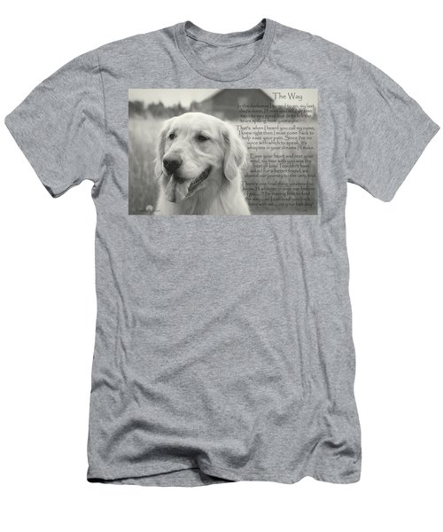 Golden Retriever The Way Men's T-Shirt (Athletic Fit)