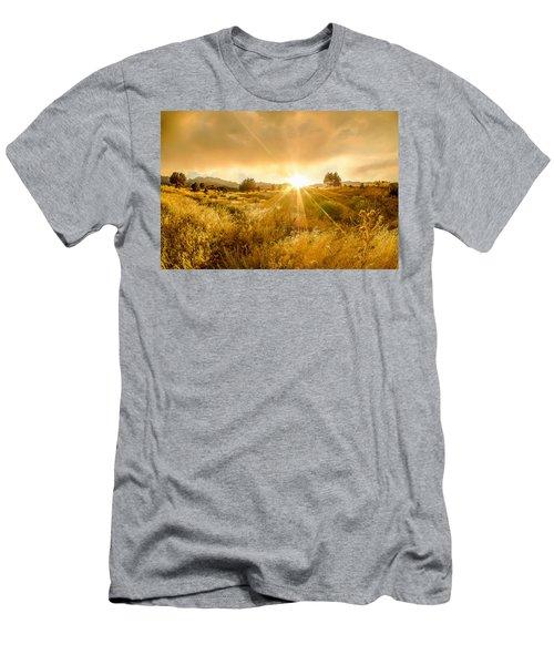 Golden Smoke Men's T-Shirt (Athletic Fit)