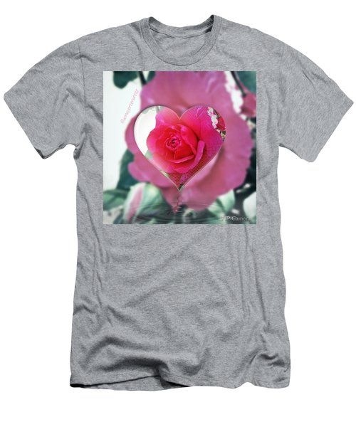 Valentine's Day Rose Men's T-Shirt (Athletic Fit)