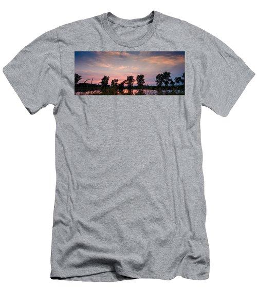 Goose Lake Prairie Sunset Men's T-Shirt (Athletic Fit)