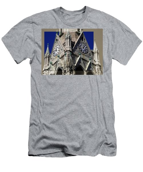 Gothic Church Clock Tower Spire Men's T-Shirt (Athletic Fit)
