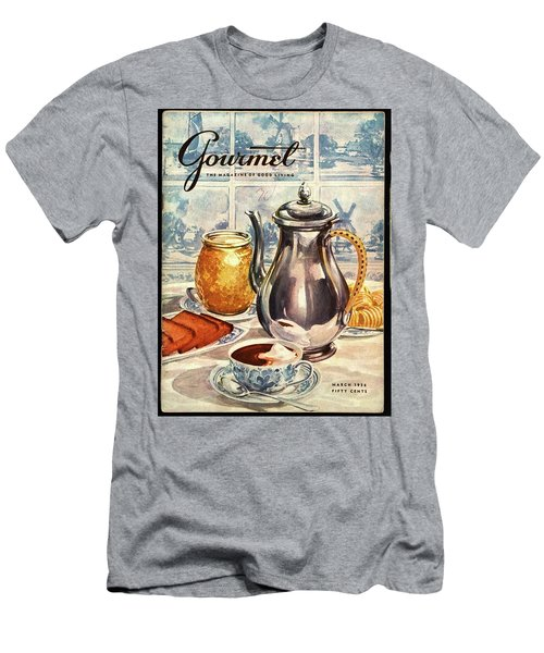 Gourmet Cover Featuring An Illustration Men's T-Shirt (Athletic Fit)