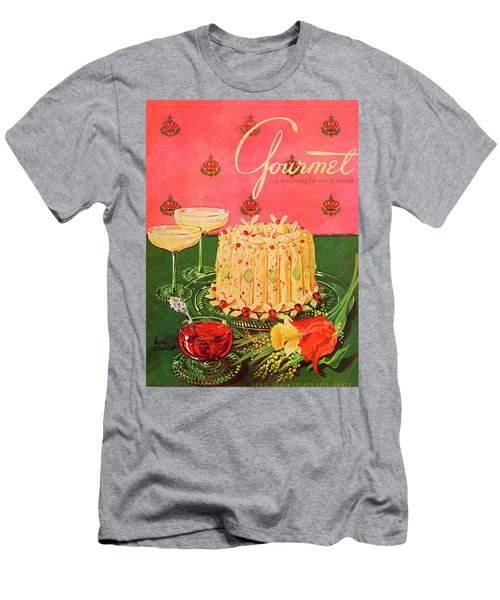 Gourmet Cover Illustration Of A Molded Rice Men's T-Shirt (Athletic Fit)