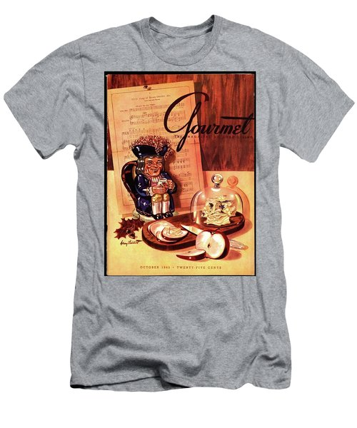Gourmet Cover Illustration Of A Tray Of Cheese Men's T-Shirt (Athletic Fit)