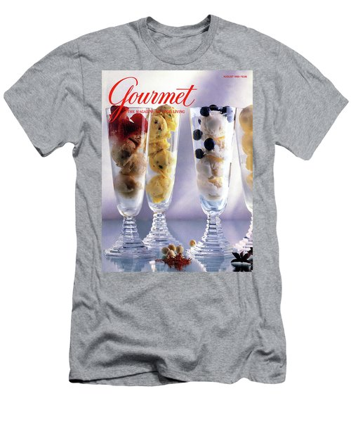Gourmet Magazine Cover Featuring Ice Cream Men's T-Shirt (Athletic Fit)