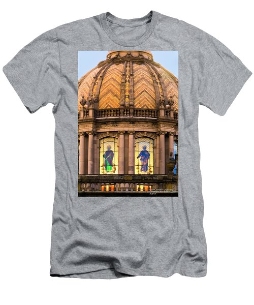 Men's T-Shirt (Slim Fit) featuring the photograph Grand Cathedral Of Guadalajara by David Perry Lawrence