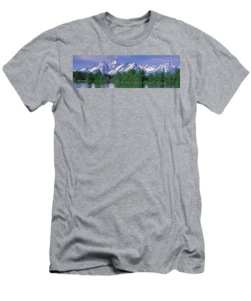 Grand Tetons National Park Wy Men's T-Shirt (Athletic Fit)