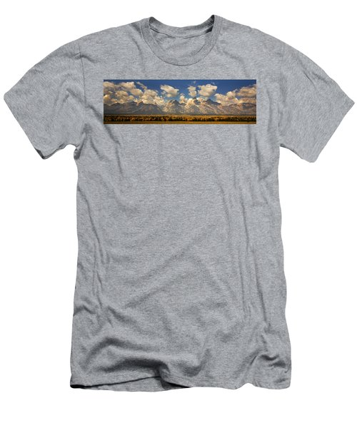 Men's T-Shirt (Slim Fit) featuring the photograph Grand Tetons by Sonya Lang