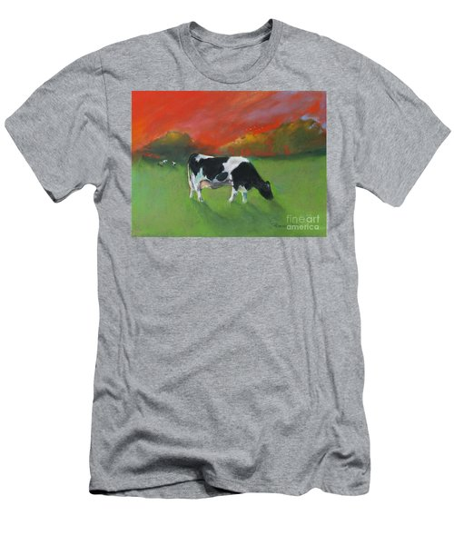 Grazing Cow Men's T-Shirt (Athletic Fit)