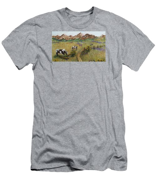 Grazing Cows Men's T-Shirt (Slim Fit) by Katherine Young-Beck