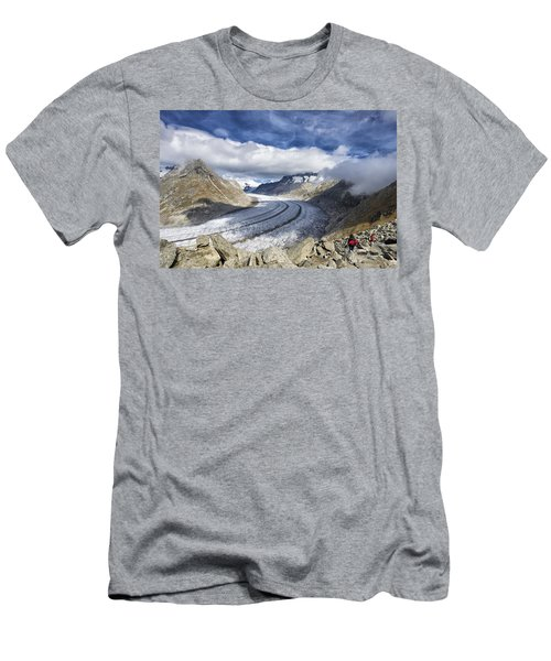 Great Aletsch Glacier Swiss Alps Switzerland Europe Men's T-Shirt (Athletic Fit)