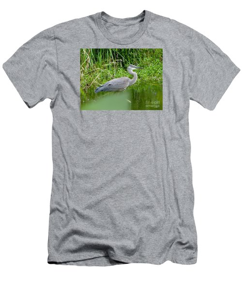 Great Blue Heron  Men's T-Shirt (Slim Fit) by Susan Garren