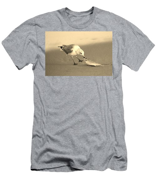 Men's T-Shirt (Slim Fit) featuring the photograph Great Catch With Fish by Cynthia Guinn