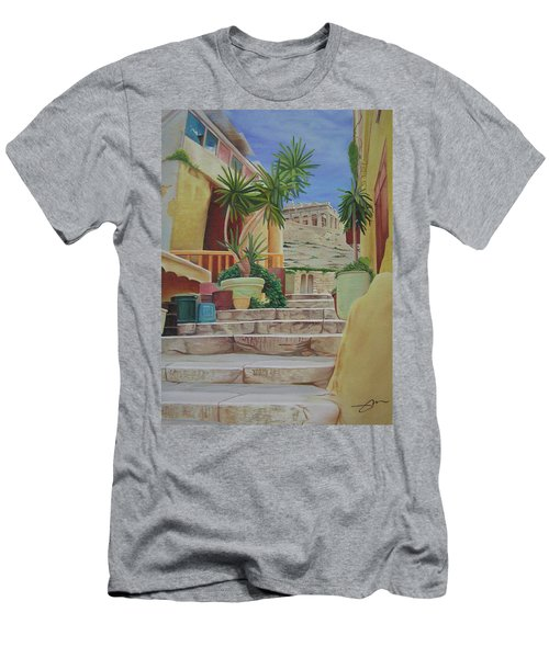 Men's T-Shirt (Slim Fit) featuring the painting Greece by Joshua Morton