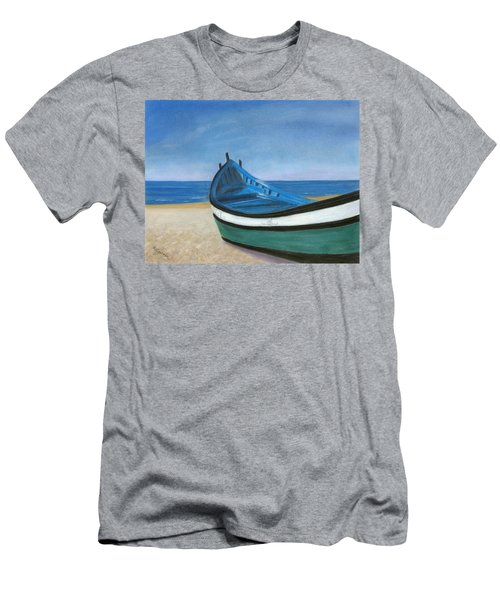 Green Boat Blue Skies Men's T-Shirt (Athletic Fit)