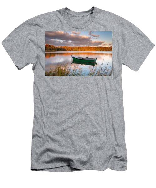 Green Boat On Salt Pond Men's T-Shirt (Athletic Fit)