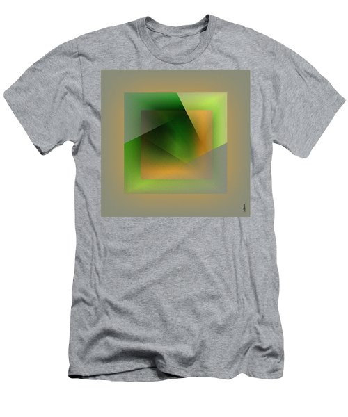 Men's T-Shirt (Athletic Fit) featuring the digital art Green Color Wrap by Mihaela Stancu