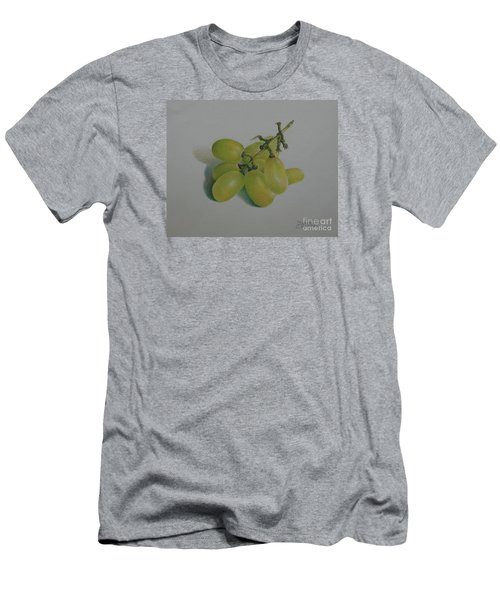 Men's T-Shirt (Slim Fit) featuring the painting Green Grapes by Pamela Clements