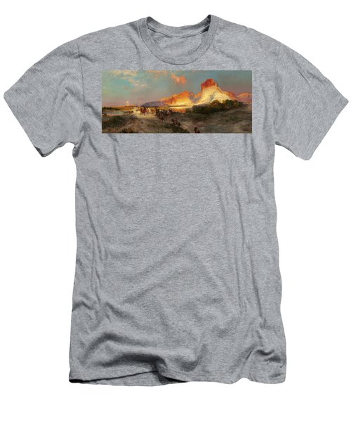 Green River Cliffs Wyoming Men's T-Shirt (Athletic Fit)