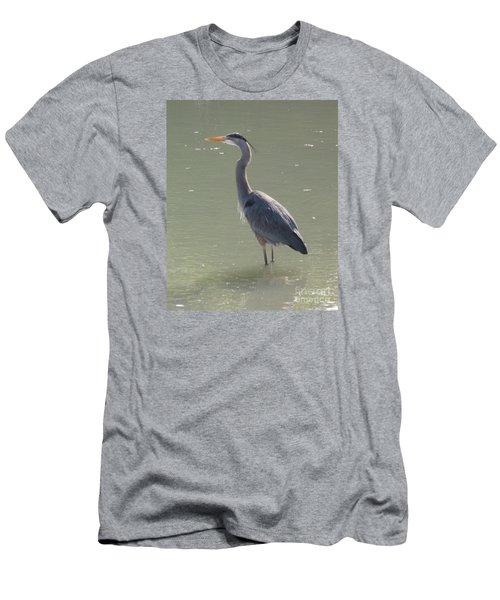 Men's T-Shirt (Slim Fit) featuring the photograph Grey Bird by Oksana Semenchenko