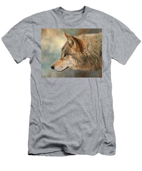 Grey Wolf 3 Men's T-Shirt (Athletic Fit)