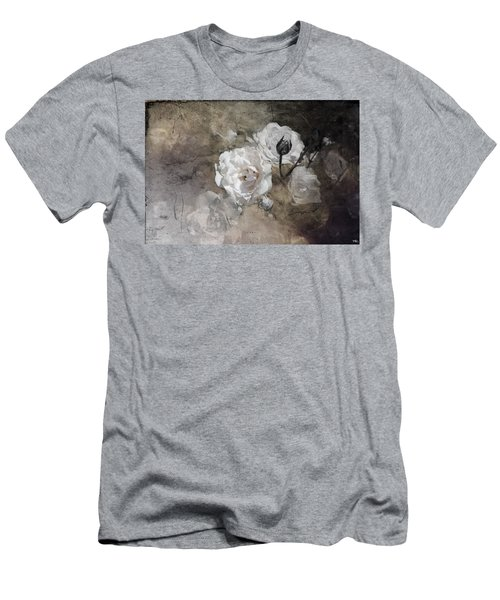 Grunge White Rose Men's T-Shirt (Athletic Fit)