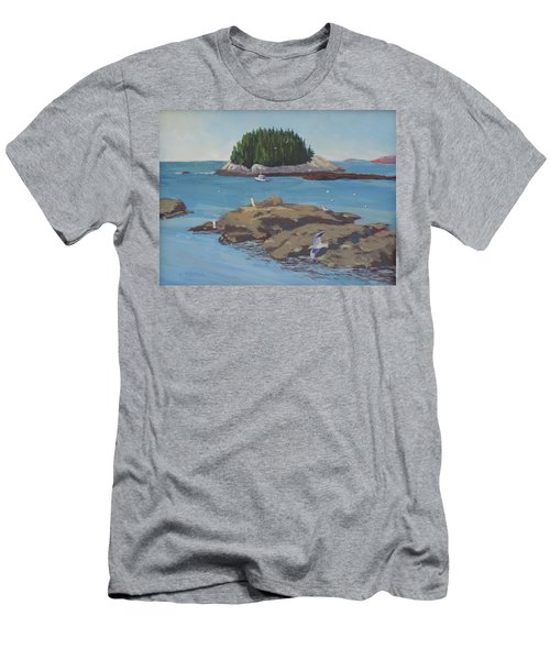 Gulls At Five Islands - Art By Bill Tomsa Men's T-Shirt (Athletic Fit)
