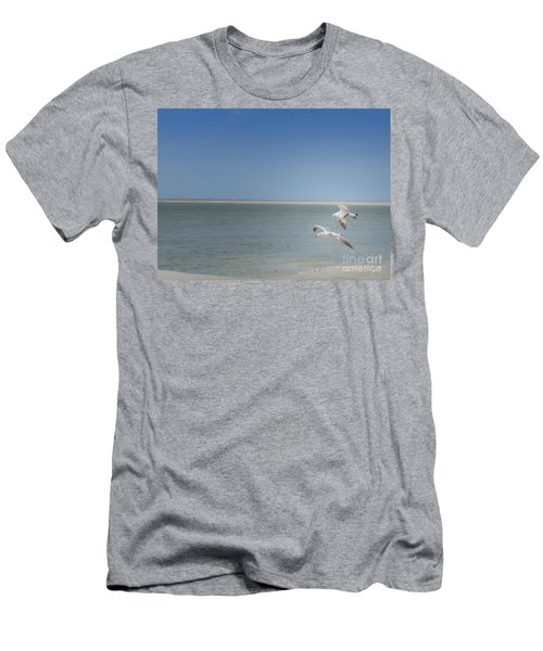 Men's T-Shirt (Slim Fit) featuring the photograph Gulls In Flight by Erika Weber