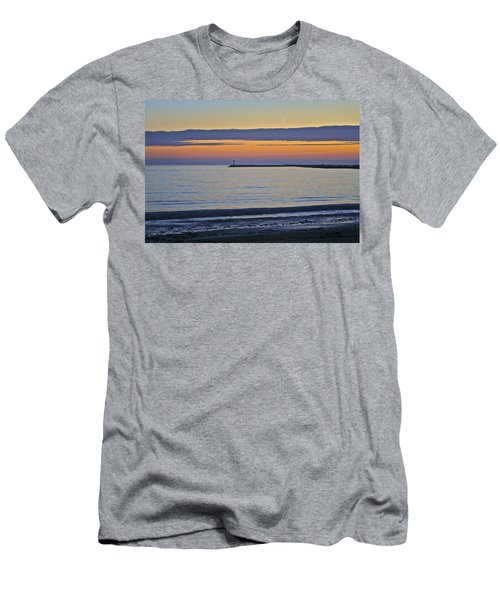 Half Moon Bay Under The Moon At Sunset Men's T-Shirt (Athletic Fit)