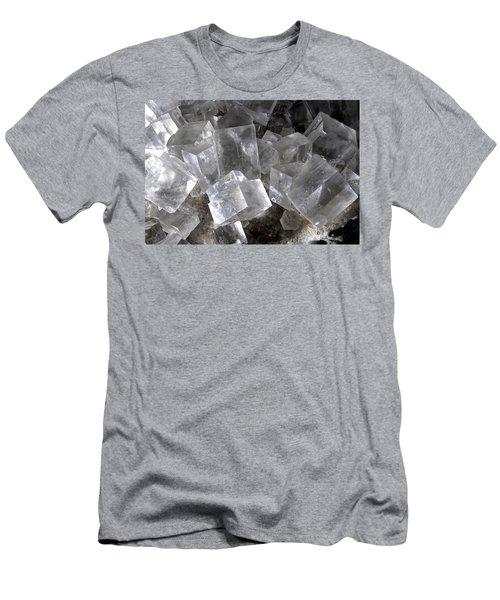 Halite Cubic Crystals Men's T-Shirt (Athletic Fit)