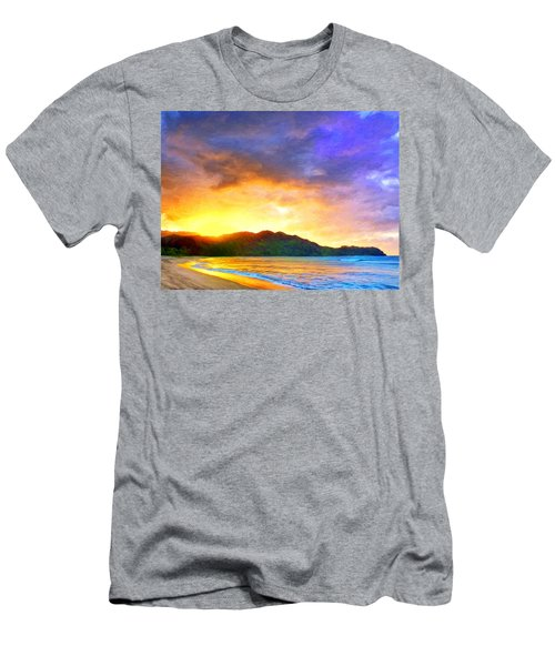 Hanalei Sunset Men's T-Shirt (Athletic Fit)