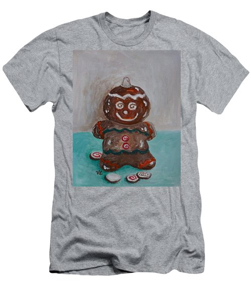 Happy Gingerbread Man Men's T-Shirt (Athletic Fit)