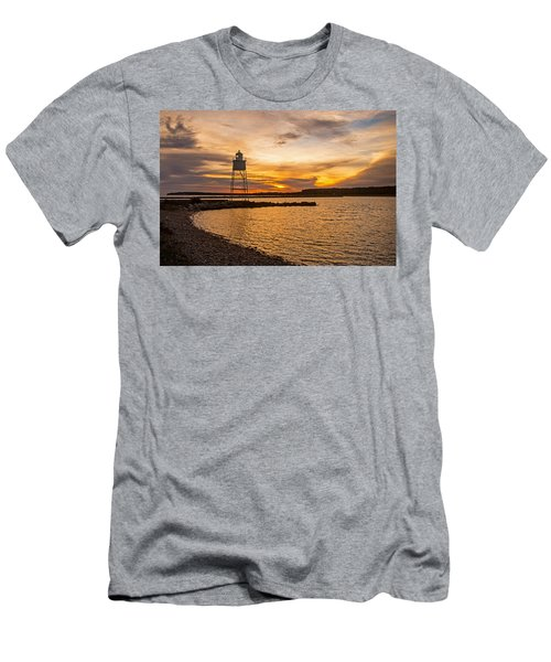 Harbor Sunrise Men's T-Shirt (Athletic Fit)