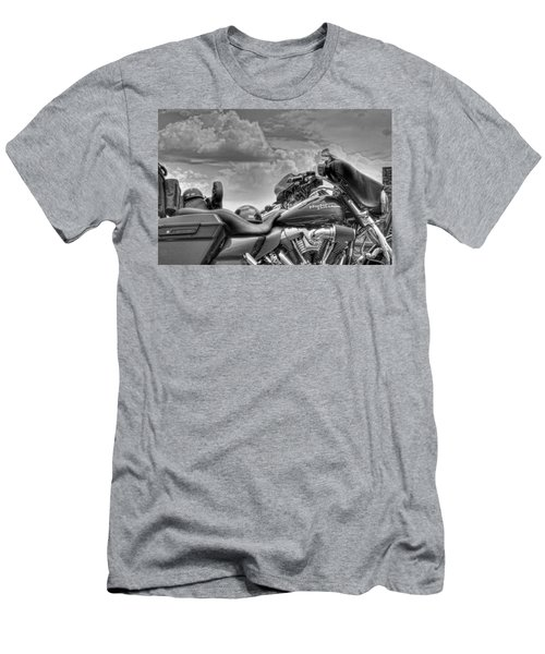 Harley Black And White Men's T-Shirt (Athletic Fit)