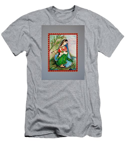 Men's T-Shirt (Slim Fit) featuring the painting Harmony by Harsh Malik