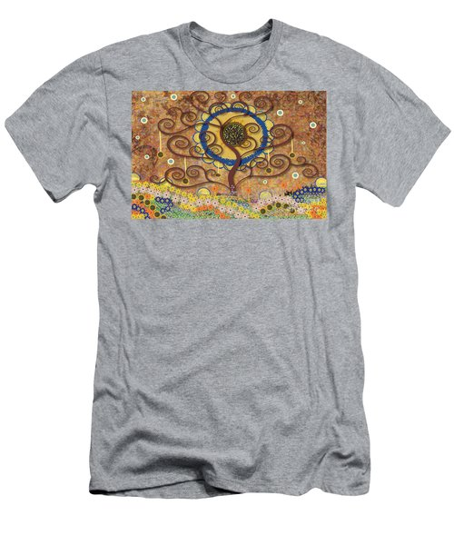 Harvest Swirl Tree Men's T-Shirt (Athletic Fit)