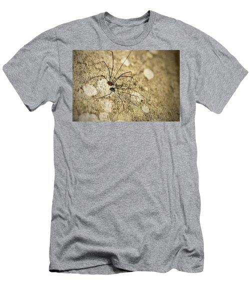 Men's T-Shirt (Slim Fit) featuring the photograph Harvestman Spider by Chevy Fleet