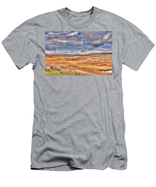 Hayden Valley Bison On Yellowstone River Men's T-Shirt (Athletic Fit)