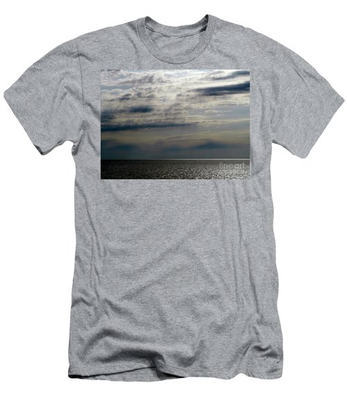 Hdr Storm Over The Water  Men's T-Shirt (Slim Fit) by Joseph Baril