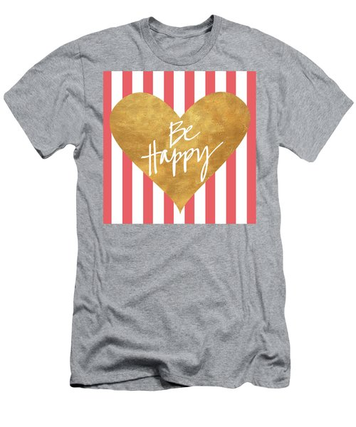 Heart On Stripes Iv Men's T-Shirt (Athletic Fit)