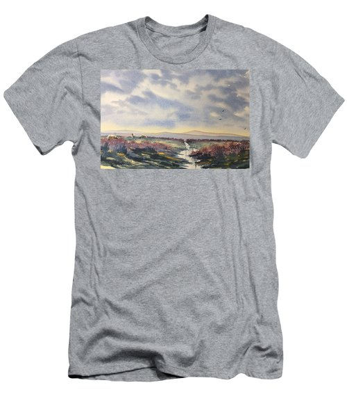 Heather On The Road To Fairy Plain  Men's T-Shirt (Athletic Fit)