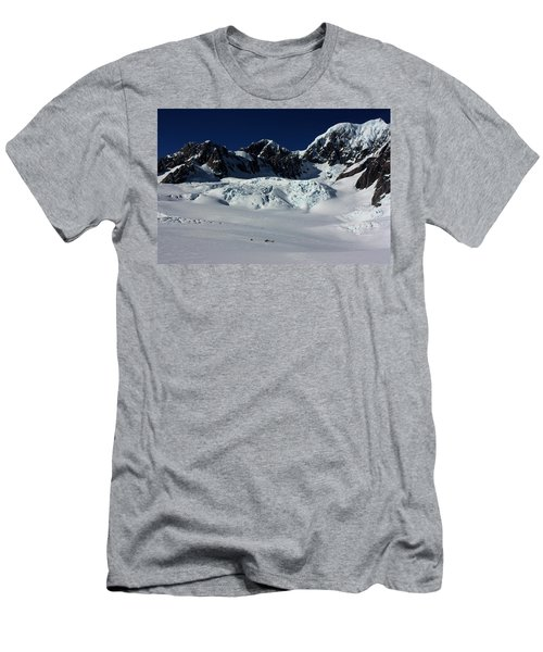 Men's T-Shirt (Slim Fit) featuring the photograph Helicopter New Zealand  by Amanda Stadther