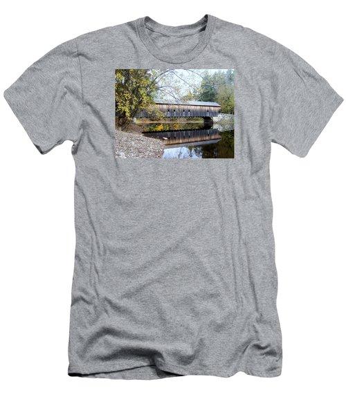Hemlock Covered Bridge Men's T-Shirt (Slim Fit) by Catherine Gagne