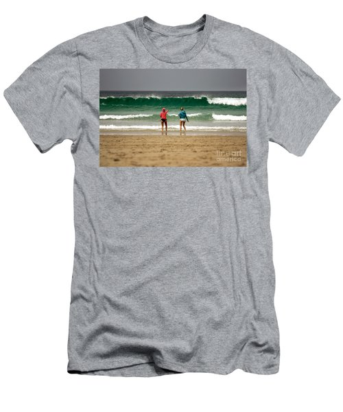 Men's T-Shirt (Slim Fit) featuring the photograph Here Comes The Big One by Terri Waters